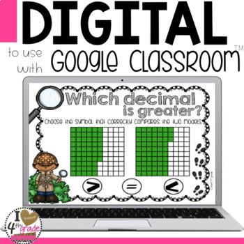 Comparing Decimals Digital Task Cards for Google Classroom