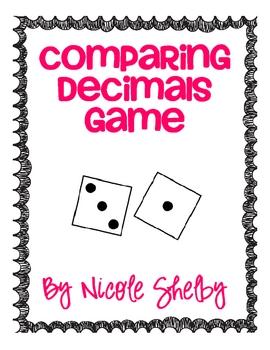 Comparing Decimals Game Freebie