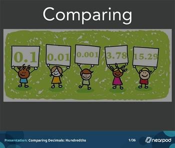 Comparing Decimals: Hundredths