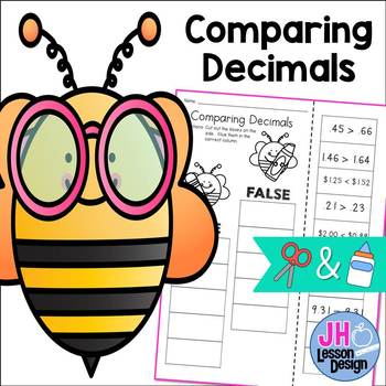Comparing Decimals Hundredths and Tenths - Cut and Paste Activity