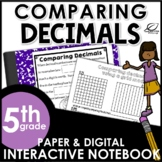 Comparing Decimals Interactive Notebook Set | Distance Learning