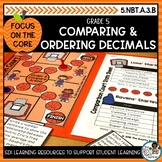 Comparing Decimals- Math Center Activity and Printables Pack