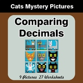Comparing Decimals - Math Mystery Pictures - Cats