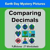 Comparing Decimals - Math Mystery Pictures - Earth Day