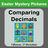 Comparing Decimals - Math Mystery Pictures - Easter