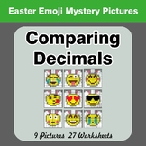 Comparing Decimals - Math Mystery Pictures - Easter Emoji