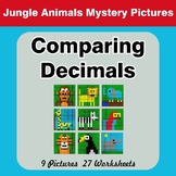 Comparing Decimals - Math Mystery Pictures - Jungle Animals