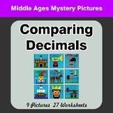 Comparing Decimals - Math Mystery Pictures - Middle Ages