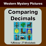 Comparing Decimals - Math Mystery Pictures - Western