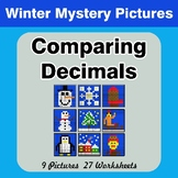 Comparing Decimals - Math Mystery Pictures - Winter