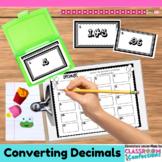 4th Grade Math: Comparing Decimals Task Cards: Math Center