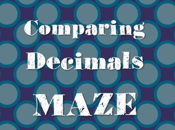 Comparing Decimals Maze