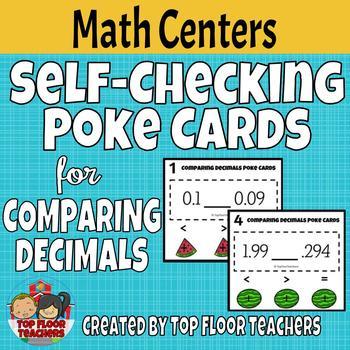 Comparing Decimals Poke Cards