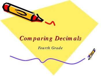 Comparing Decimals Powerpoint
