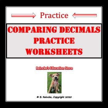 Comparing Decimals Practice Worksheets (Common Core)