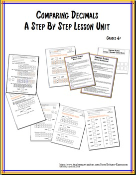 Comparing Decimals - Step-by-Step Lesson Unit