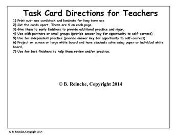 Comparing Decimals Task Cards (28 cards!)