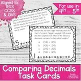 Comparing Decimals Task Cards | TEKS 4.2f | TEKS 5.2b