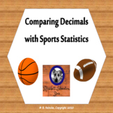 Comparing Decimals Using Sports Statistics- 5 Worksheets