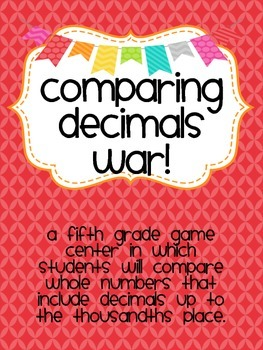 Comparing Decimals War