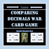 Comparing Decimals War Card Game