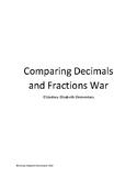 Comparing Decimals and Fractions War