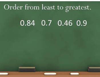 Comparing Decimals and Ordering Decimals