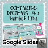 Comparing Decimals on a Number Line- Google Slide task car
