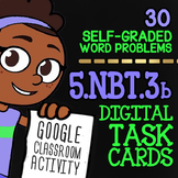 Comparing Decimals to Thousandths ★ Google Classroom Math Task Cards ★ 5.NBT.3b