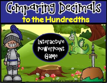 Comparing Decimals to the Hundredths ~ PPT Game