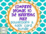 Comparing Decimals to the Hundredths Place Task Cards & PowerPoint Bundle