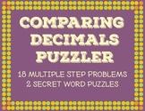 Comparing Decimals Word Problems