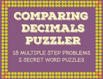 Comparing Decimals Word Problems
