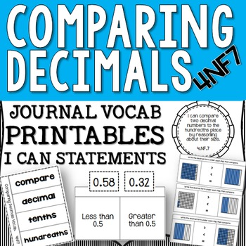 Comparing Decimals to the Tenths and Hundredths - 4NF7