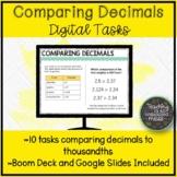 Comparing Decimals to the Thousandths Digital Tasks | Dist