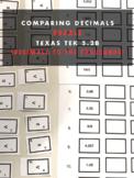Comparing Decimals to the thousandths Texas Tek 5.2b - Puzzle