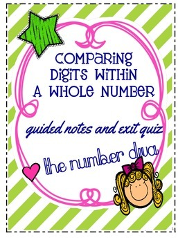 FREE Comparing Digits Within a Whole Number: Guided Notes