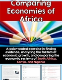 Comparing Economies of Africa: A Color-Coding Activity