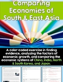 Comparing Economies of South & East Asia: A Color-Coding Activity