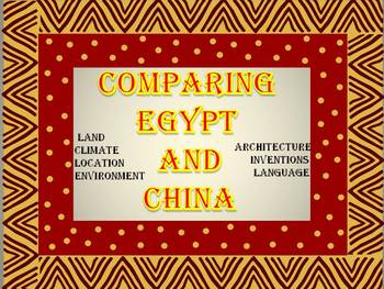 Comparing Egypt and China - printable checklist