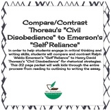 """Comparing Emerson's """"Self Reliance"""" to Thoreau's """"Civil Disobedience"""""""