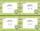 Comparing Exponents-Grades 6-7-40 Math Task Cards-St. Patrick's