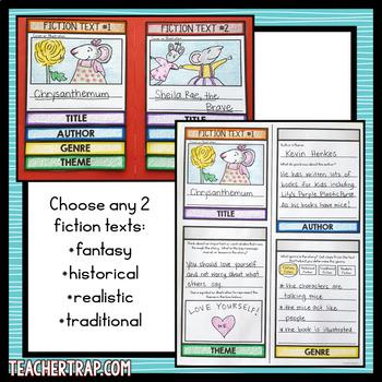 Comparing Fiction Texts Lapbook
