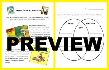 Comparing Fiction and NonFiction: Reading Passage and Genre Venn Diagram