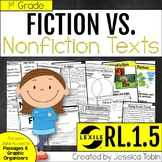 Fiction Vs. Nonfiction First Grade RL1.5- with Digital Distance Learning Links