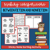 Comparing Fiction and Nonfiction: Sticky Note Sorting Activity