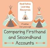 Comparing Firsthand and Secondhand Accounts FREEBIE - Native American Themed