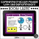 Comparing Fraction Models with Like Denominators Boom Cards™ | Digital Tasks