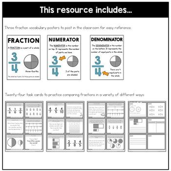 Comparing Fraction Task Cards | Fraction Practice
