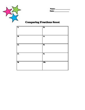 Comparing Fraction Task Cards TEKS Aligned